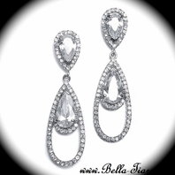 Hazel - Elegant wedding Teardrop Earrings -