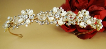 Heirloom-MariaElena Stunning Vintage Inspired Gold Band Tiara