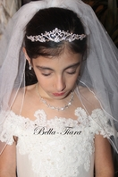 Italian collection - Isabella - Beautiful princess communion Crystal Tiara - additional 15% off