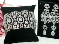 Isadora -- NEW!! High end CZ Bridal Earring and Bracelet set - GREAT PRICE!!