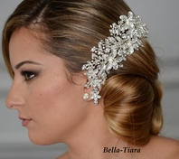 Isis - Royal Collection Dazzling romantic wedding hair comb - SALE