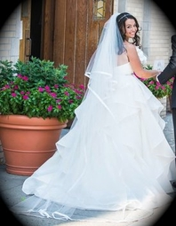 Italian collection - satin edge cathedral wedding veil - SPECIAL