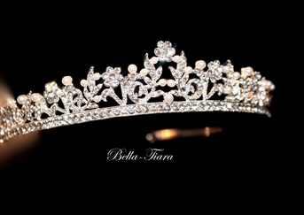 Italian Collection - Beautiful Swarovski crystal and pearl communion tiara - SOLD OUT
