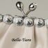 Ivory Satin Rhinestone Evening Bag