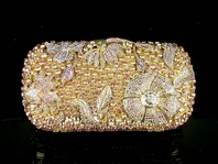 Jada - New Vintage dream gold swarovski crystal purse - SALE