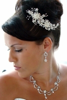 Jasmine - Breathtaking ivory rum Pearls and Swarovski crystals - SALE!!