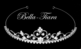 Italian Collection pretty and sweet rhinestone communion tiara