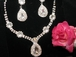 Jenna - Amazing Rhinestone Wedding Necklace set - SPECIAL two left