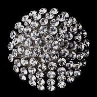 Jenna - Antique Silver Rhinestone Brooch