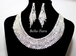 Jessica - Classic beauty rhinestone statement necklace set - SPECIAL