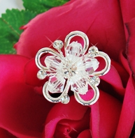 Jessica - Crystal Flower Bouquet Jewelry