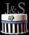 Jeweled Monogram Cake Toppers (set of 3)
