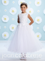 Joan Calabrese-116364-beaded lace Communion Dress -  FREE VEIL - FREE SHIPPING