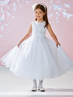 Joan Calabrese Designer beaded Communion Dress 117350- -  FREE VEIL - FREE SHIPPING