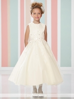 Joan Calabrese lace communion dress 216313 - FREE VEIL