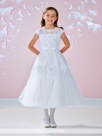 Joan Calabrese stunning Chantilly lace communion dress - 117340 - FREE VEIL