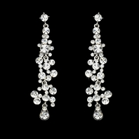 Jolie - DAZZLING long Crystal drop Earrings - 15% off use code (jewel15)
