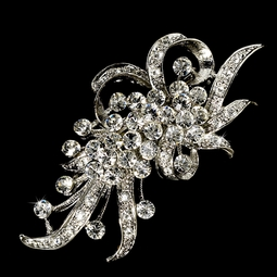 Juliana - vintage crystal bridal brooch -sale