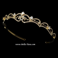 Juliet - Lovely gold vintage swarovski crystal wedding tiara - SALE