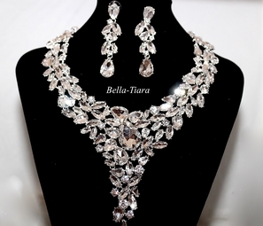 June - Stunning Crystal Statement Necklace set