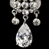 Karla  - Vintage swirl CZ drop wedding bridal earrings - SPECIAL