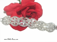 kasha - Beautiful sparkling wide rhinestone bracelet - sold