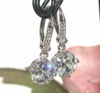 Kendall - Elegant Cubic Zirconia drop wedding earrings - SPECIAL