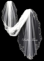 Kiana-Elegant beaded cathedral wedding veil - SALE