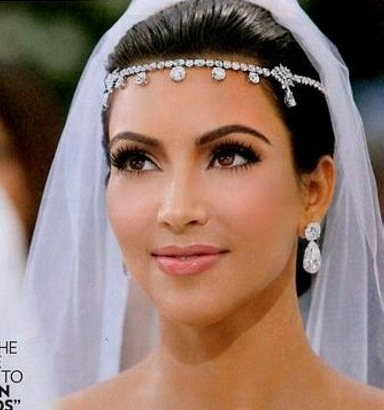 Kim Kardashians Wedding Headband Jewelry replica SPECIAL