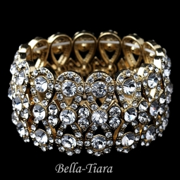 Klara - Gorgeous gold rhinestone bracelet - special two left