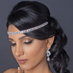 Krissa - simple yet dazzling silver or gold rhinestone stretch headpiece - SALE