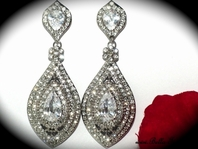 Lara - Beautiful swarovski crystal drop wedding earrings - SALE