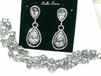 Layla - GORGEOUS HIIGH END CZ earring and bracelet set - AMAZING PRICE!
