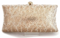 Leah - NEW Elegant gold swarovski crystal evening purse - SALE