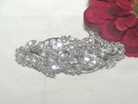 Leila - Beautiful vine swarovski crystal hair barrette - SALE!!