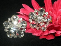 Letizia - NEW GORGEOUS set of 2 Swarovski crystal hair flower - SALE