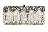 LIDIA - SPECTACULAR Swarovski crystal evening purse - SALE