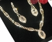 Light Gold Elegant V- drop Rhinestone Necklace Set - SPECIAL!!