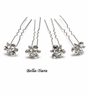 Lilliana - Cubic Zirconia CZ Bridal Hair Pins (set of 4) -- SALE!!