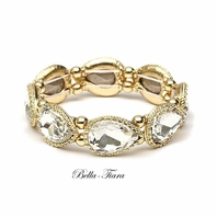 Lillie - Dazzling gold setting rhinestone bracelet - SPECIAL
