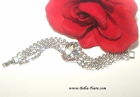 Lilly - STUNNING Swarovski crystal bridal bracelet - SPECIAL one left