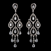 Louisa - Royal Collection - BREATHTAKING Swarovski Crystal CZ wedding chandelier earrings -15% off use code (jewel15)