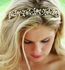 Lovely crystal and pearl gold wedding headband - SALE