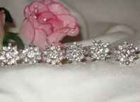 Lucy   Sunflower Sparkle rhinestone hairpins (set of 6)