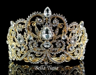 Luisa Maria - Gold crystal wedding bridal tiara crown - SPECIAL