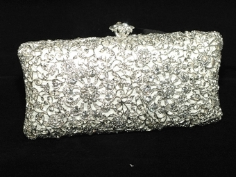 Luisarose - NEW! Vintage swarovski crystal wedding clutch - Amazing price!! one left
