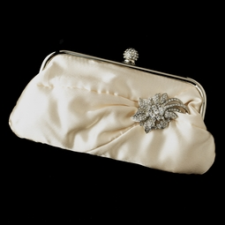 Luna - Elegant ivory wedding purse - SALE
