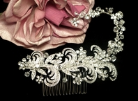 Luna - NEW vintage swarovski crystal wedding comb - SPECIAL one left