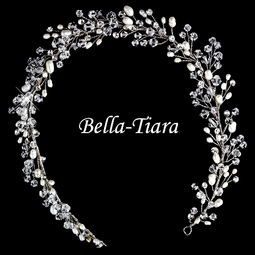 cde78ba27c5b Luxurious Collection - Swarovski crystal freshwater pearl bridal hair vine  headband - sale