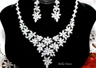 Madonna -  NEW!!  EXQUISITE CZ vine wedding jewelry set - SALE